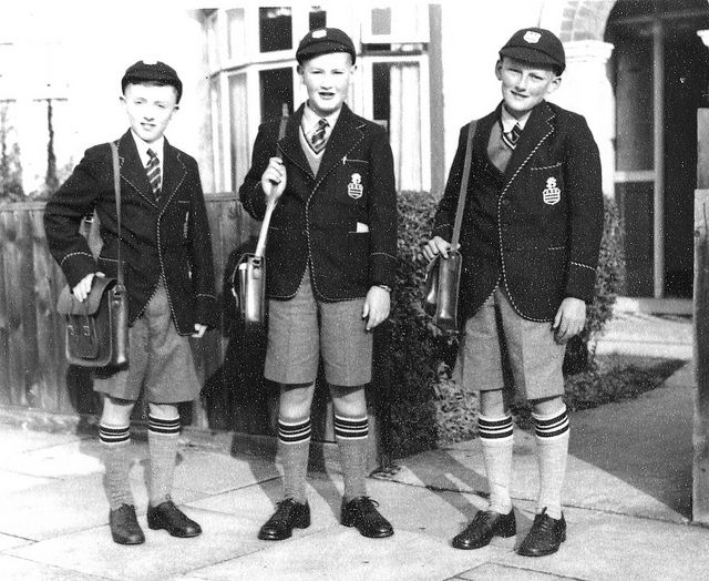 "First day at Clee Grammar School 8th September 1953 by pj's memories, via Flickr. Very like the ""naughty boys uniform in Pinocchio"