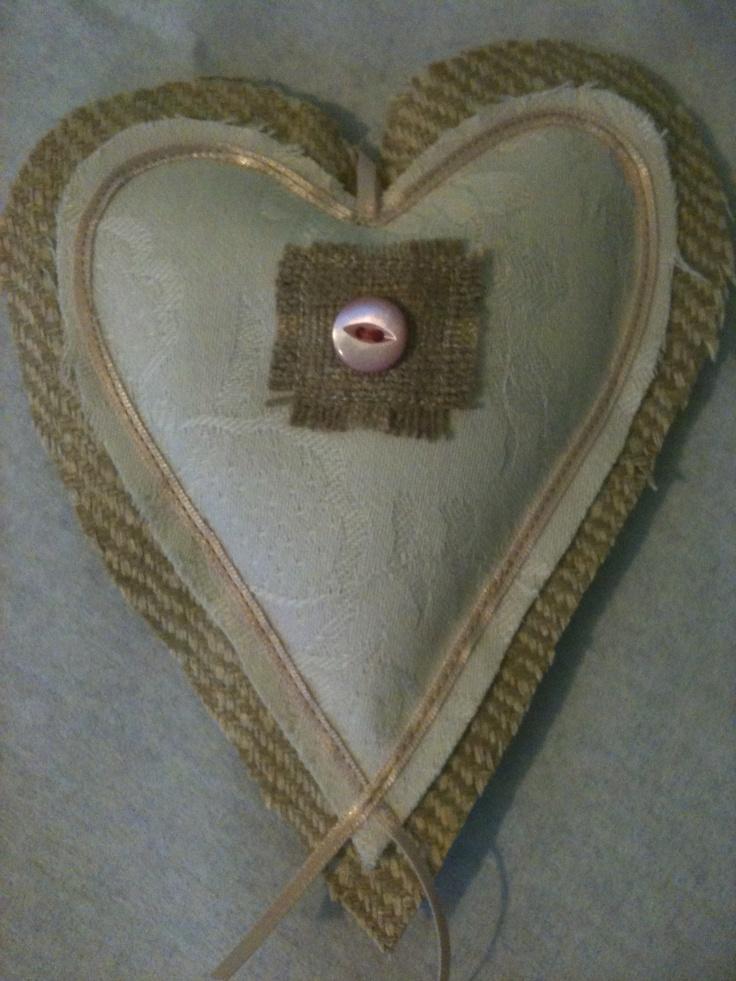 Coffee and Cream Lavender Heart
