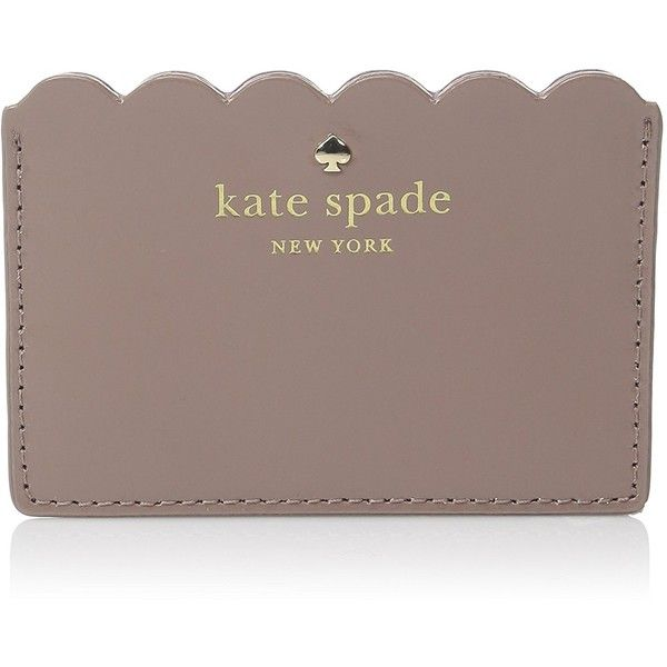 kate spade new york Lily Avenue Patent Credit Card Holder ($68) ❤ liked on Polyvore featuring bags, wallets, brown wallet, kate spade wallet, card holder wallet, patent wallet and kate spade