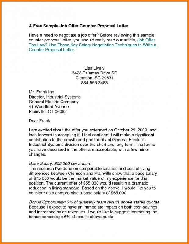 counter offer letter check more at httpsnationalgriefawarenessdaycom2398