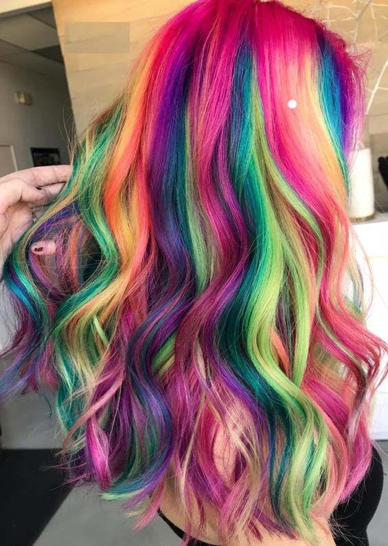 amazing shades of rainbow hair