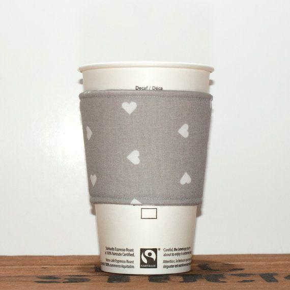 Coffee cozy  Fabric Coffee sleeve  Cup sleeve  Coffee by Chockrosa