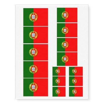 #Portuguese flag of Portugal washable Temporary Tattoos - #country gifts style diy gift ideas