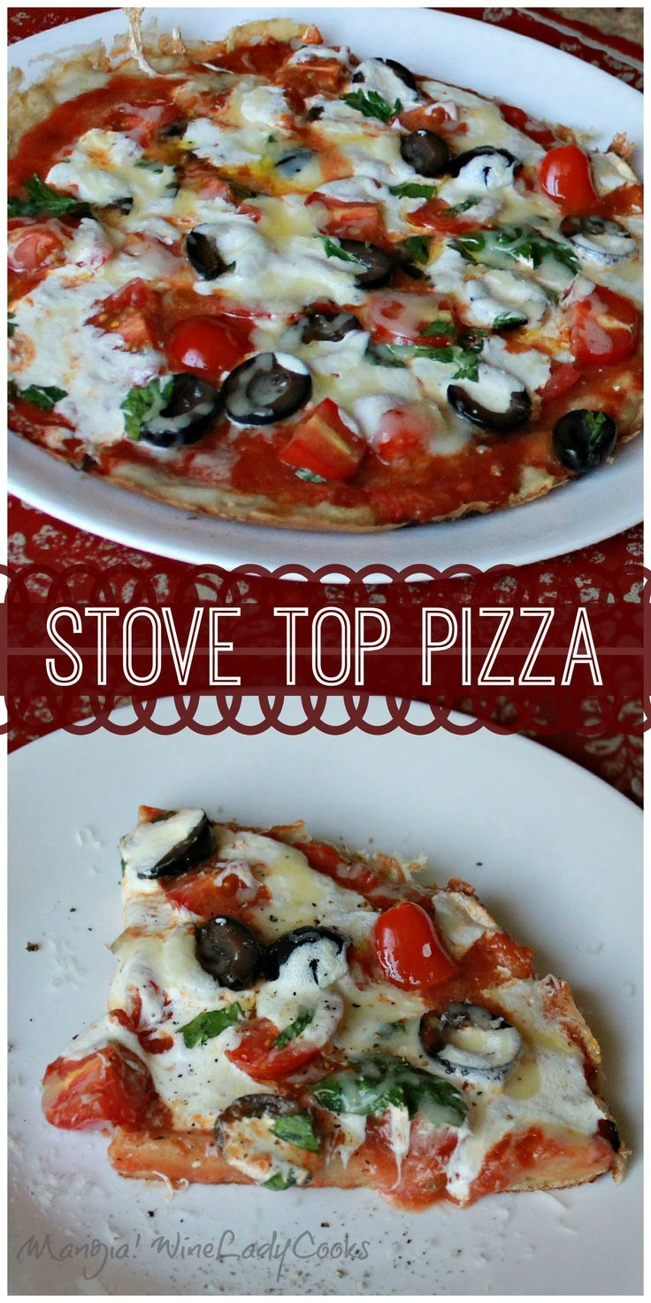 Stove Top Pizza is easy to make in 20 minutes great for those busy days or when your on the go.  #stovetop #pizza #30minutesorless #nobake  @wineladyjo