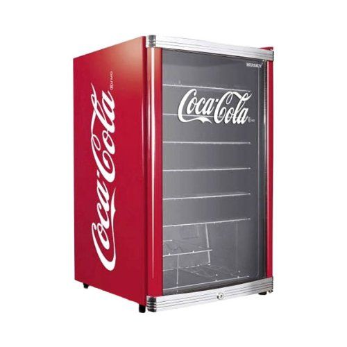 Cooler Coca Cola Kühlschrank im Retrolook - Husky HUS-HC 166 Flaschenkühlschrank Coca-Cola / A+ / 83,5 cm Höhe / 109 kWh/Jahr / 130 L Kühlteil