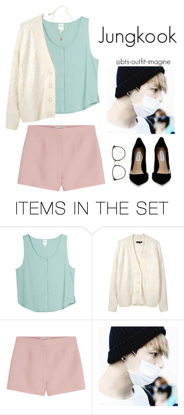 """""""Meeting his parents (Jungkook)"""" by effie-james ❤ liked on Polyvore featuring art, simple, kpop, korean, bts and jungkook"""