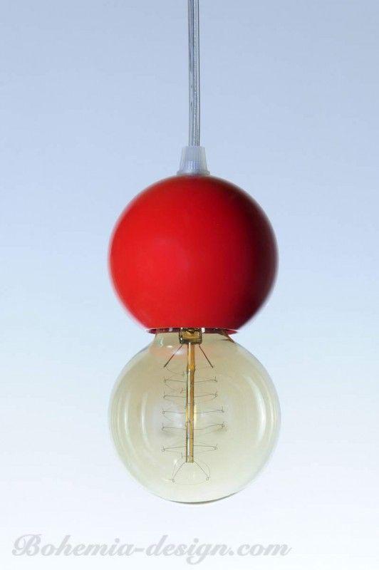 Stropní světlo koule GLOBE barevné 80 mm