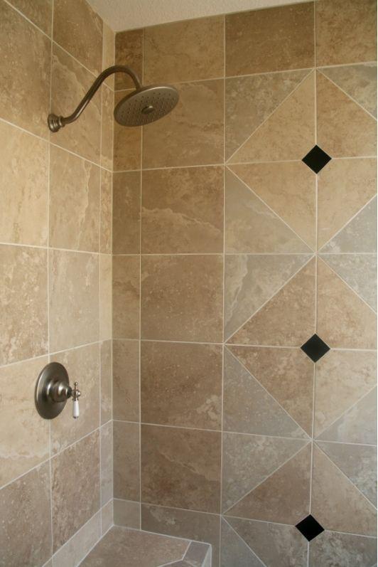 Bathroom design idea   Home and Garden Design Ideas  Bathroom Tile ShowersShower. 10  images about Creative Tile Ideas on Pinterest   Shower tiles