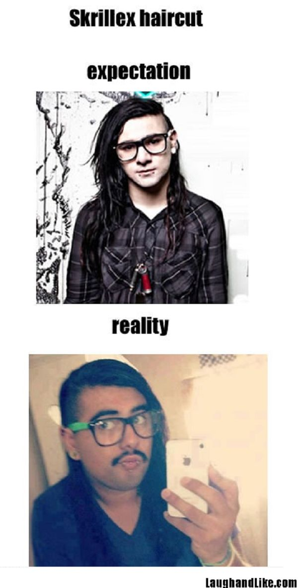 Skrillex Haircut Expectation