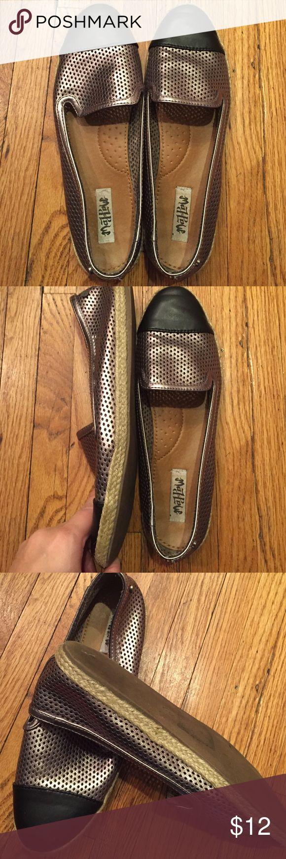 Size 9 Metallic & black espadrilles MadLove Comfy ladies espadrilles with black & metallic detail. Size 9. Excellent condition Shoes Espadrilles