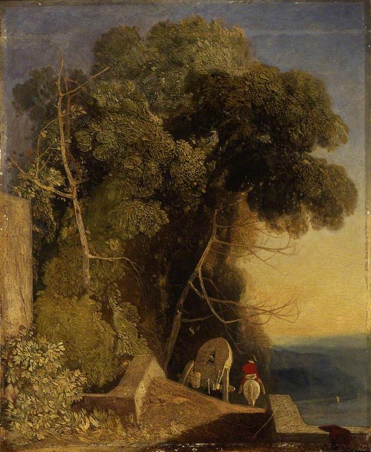 ca  1824-28 The Baggage Wagon   oil on pane