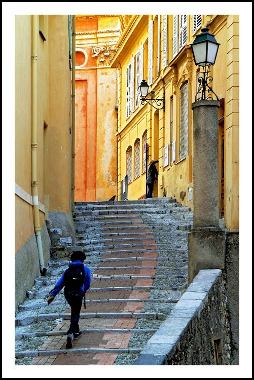 Provence - France - stairs to the church