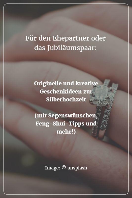Originelle und kreative Geschenkideen zur Silberhochzeit gesucht? Für den Ehepartner oder das Hochzeitspaar? - Mit diesen Anregungen kommt ihr garantiert auf gute Ideen!