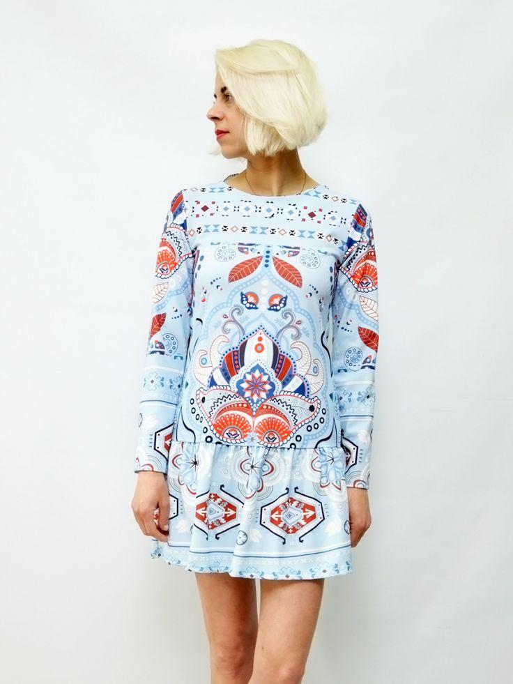 Sukienka ETNO błękit AchVeverka.pl #sukienka #dress #etno #niebieska #blue #sweet