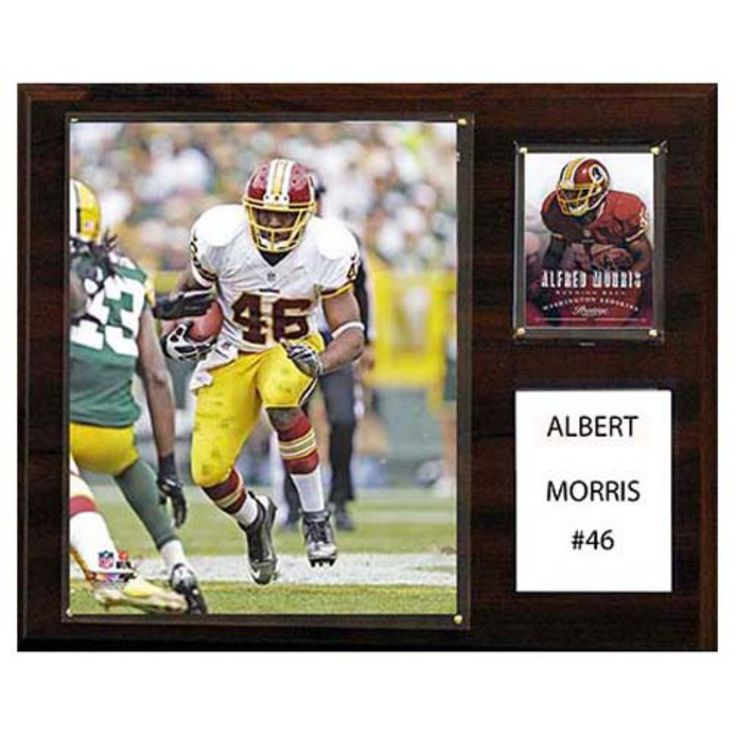 C and I Collectables NFL 15W x 12H in. Alfred Morris Washington Redskins Player Plaque - 1215AMORRIS