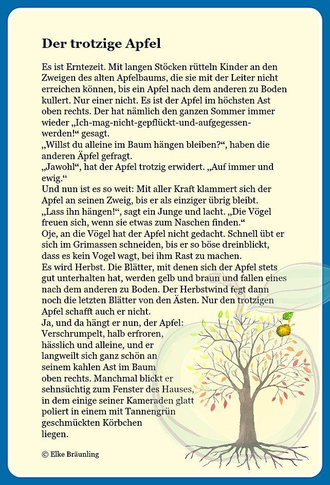 Der trotzige Apfel * Elkes Kindergeschichten | Geschichten