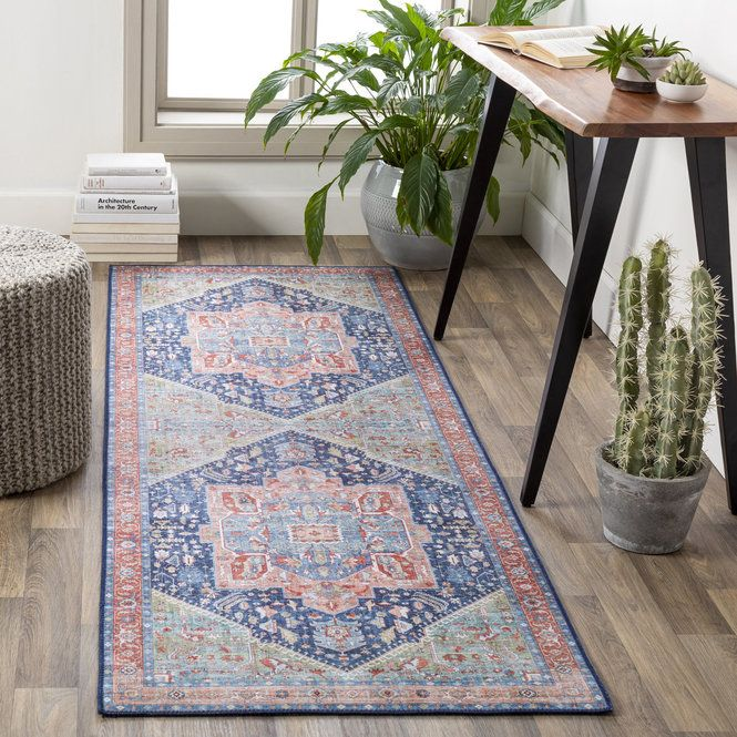 Melinda Melody Rug In 2020 Peach Rug Blue Area Rugs Rugs