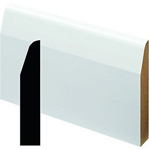 Wickes Fully Finished MDF Chamfered Skirting 14.5 x 94 x 2400mm | Wickes.co.uk