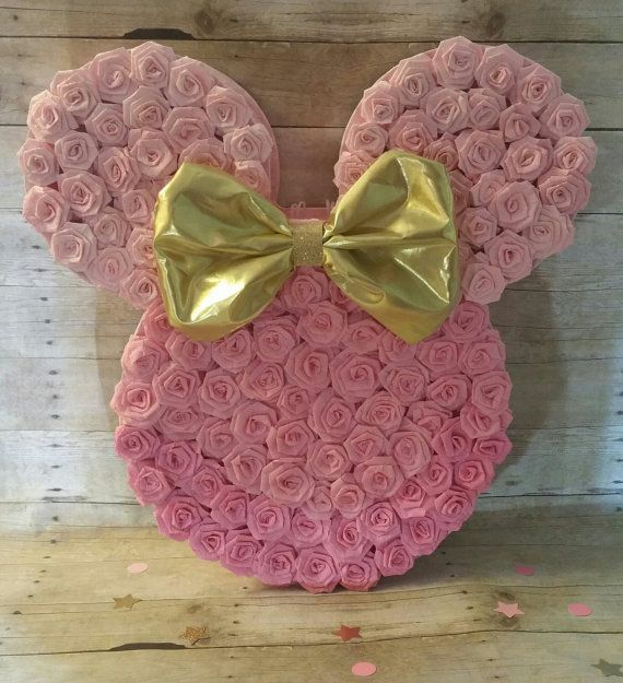 Oro y rosa Minnie Mouse Piñata Oro Minnie Mouse cotillón