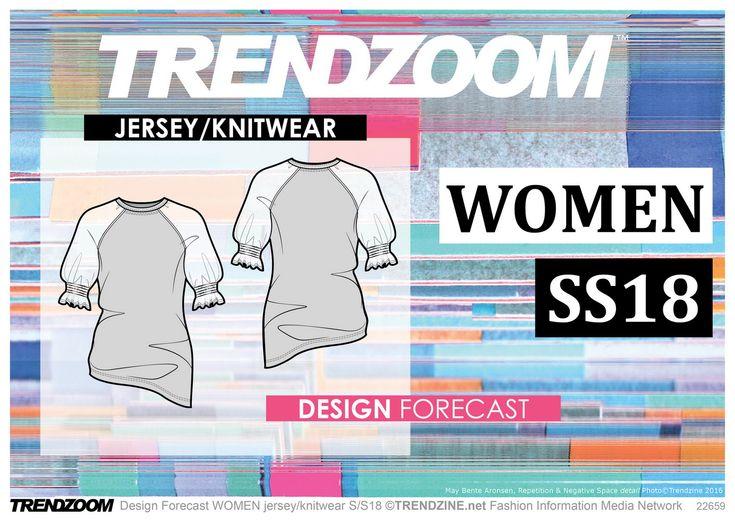 TRENDZOOM Design Forecast S/S 2018 WOMEN Jersey/Knitwear https://trendzoom.com