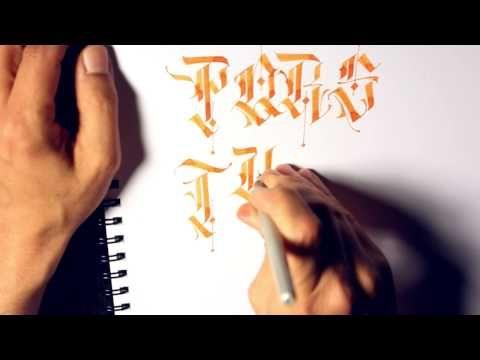 Parallel Pen Calligraphy - P - Z Caps