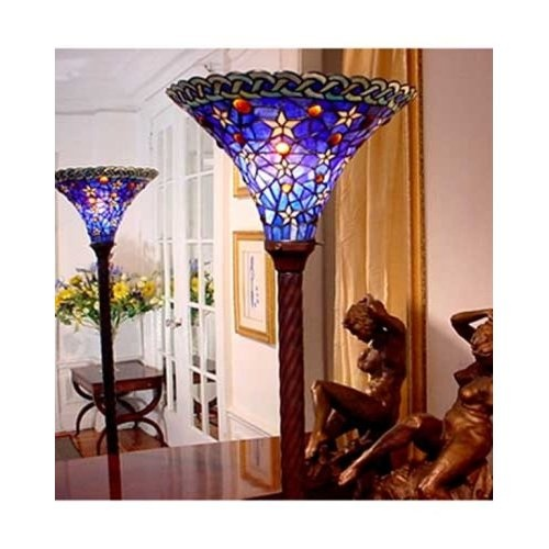 348 best tiffany lamps shades images on pinterest chandeliers tiffany style stained glass torchiere floor lamp ft1485 aloadofball Choice Image