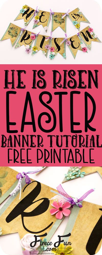 I love this free Easter Banner printable. It's such a great Easter craft idea. Perfect DIY to decorate for the holiday. Love this!