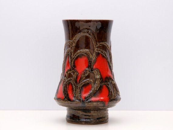 Tubed Bimsstein Fat Lava Vintage Kelch Vase von von BetterLookBack