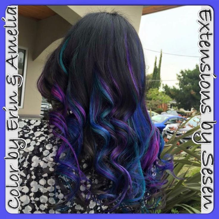 20 best hair extensions images on pinterest tape extensions blue teal purple and pink hair san jose ca pmusecretfo Image collections