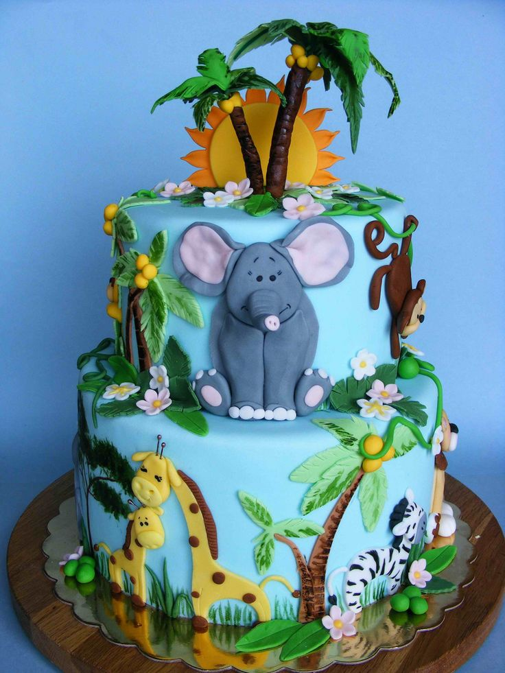 https://flic.kr/p/9LS3Gx | Jungle cake | Happy 9th Bday, Viara! Историята на bubolinkata.blogspot.com/2011/05/blog-post_25.html