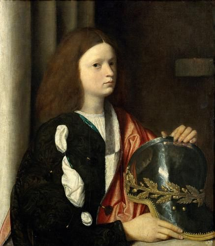 Giorgione (attrib.), Portrait of a Boy, c. 1502, Vienna Kunsthistorisches Museum. The sitter is sometimes conjecturally identified as Francesco Maria della Rovere, nephew of Julius II and future duke of Urbino. He appears briefly off-stage in the novel. #SubtlestSoul