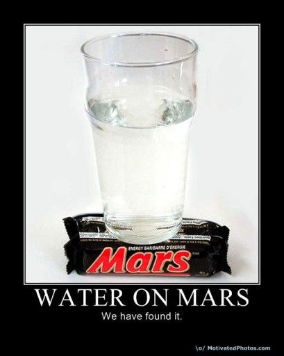 Water found on Mars!! LOL  #geek #humour #science