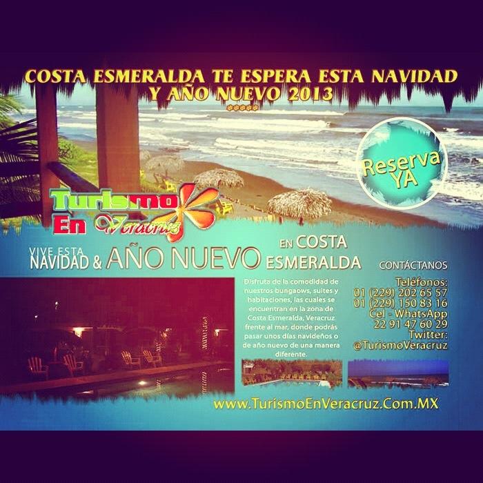 Buenos días a todos feliz miércoles. Pasa esta #navidad y #añonuevo #2013  en #CostaEsmeralda junto a las mejores #playas del estado +Info http://www.turismoenveracruz.mx/2012/11/vive-esta-navidad-y-ano-nuevo-junto-al-mar-en-costa-esmeralda/ #hospedaje #suites #bungalows #vacaciones #Veracruz