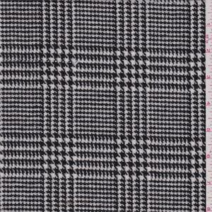 Black and white yarn dyed glenplaid. This light/medium weight pure wool woven fabric has a soft feel.Compare to $25.00/yd