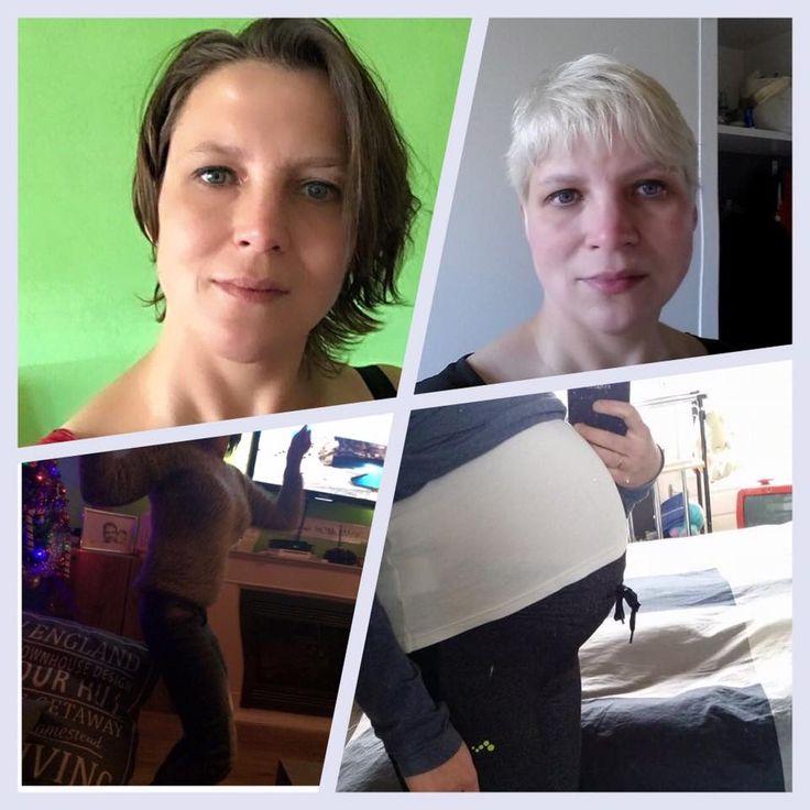 Deborah: Eigenlijk een beetje beschaamd plaats ik mijn foto's. Links is nu en de rechter foto's mijn zwangerschap en een jaar erna. Door de producten uiteindelijk na het ontzwangeren nog 12 kilo kwijt geraakt waardoor ik me weer goed in mijn vel voel. Hiervoor ook altijd moe en futloos wat nu veranderd is in fit en energiek.