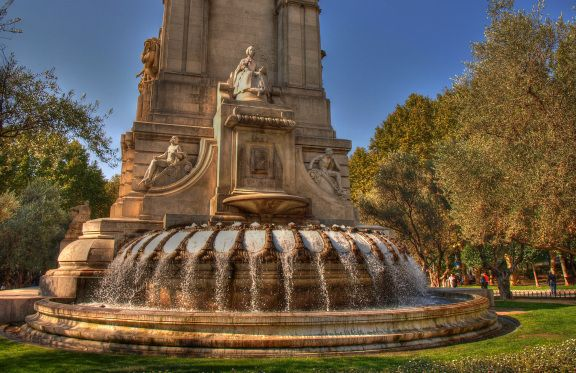 The Cervantes Monument in Madrid