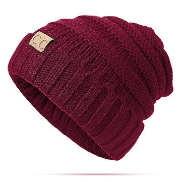 fd135f19124 Women Men Warm Soft Knitting Bonnet Hats Winter Outdoor Snow Leisure  Stripes Beanies Casual Cap