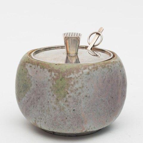 Arne Bang: Marmalade jar in stoneware