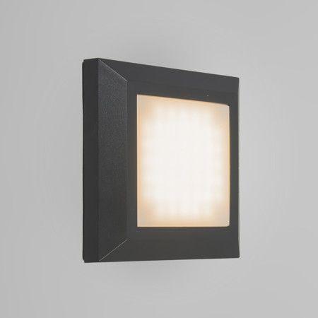 Wandleuchte Gem 1 Dunkelgrau Sehr Schön, Aus Hochwertigem Kunststoff  Hergestellt, Und Mit LED Licht Für Viele Anwendungsmöglichkeiten Geeignet.