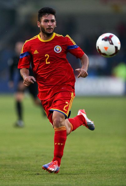 Andrei Roman of Romania in action during the U20 International friendly match between England and Romania on September 5, 2014 in Telford, England.