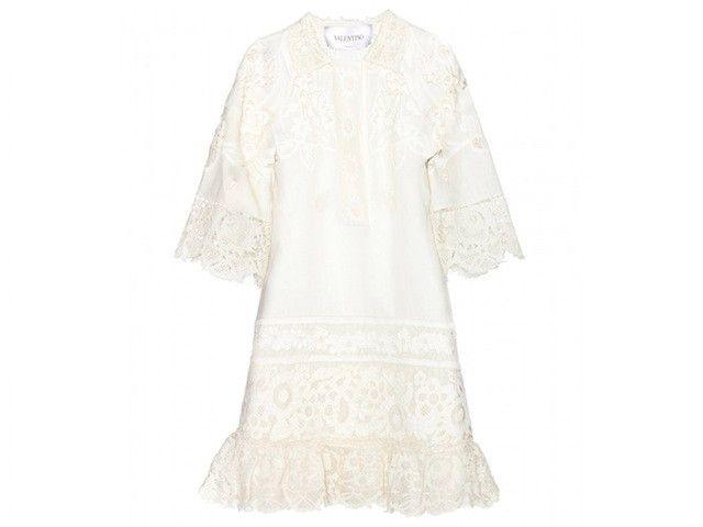 Robe en broderie anglaise de lin, Valentino, 4500€