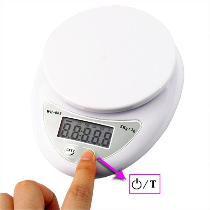 Multifunction Digital Kitchen Scale 11 Lb Electronic Food Zero Auto Off White