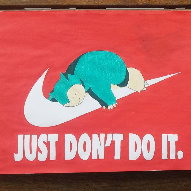 Just don't do it (art by me) #pokemon #sleep #dopeart #nike #infographic #dope #mood #smile #peace #love #squasshit #hookah #weed #ganja #hight #dead #idontreallycareifyoucry #artrealism #artwork #loveart #passion #nikelover #tiredaf # # .