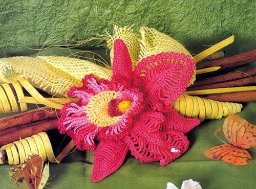 Free Crochet Pattern Orchidee : RU Orchidee Crochet Blumen Pinterest Posts