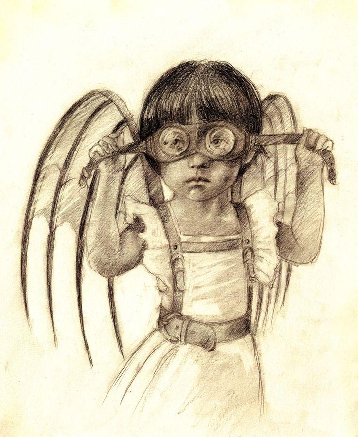 Beatriz Martin Vidal: Angel, Beatriz Martin, Illustrations, Martín Vidal, Illustration, Children, Steampunk, Drawing