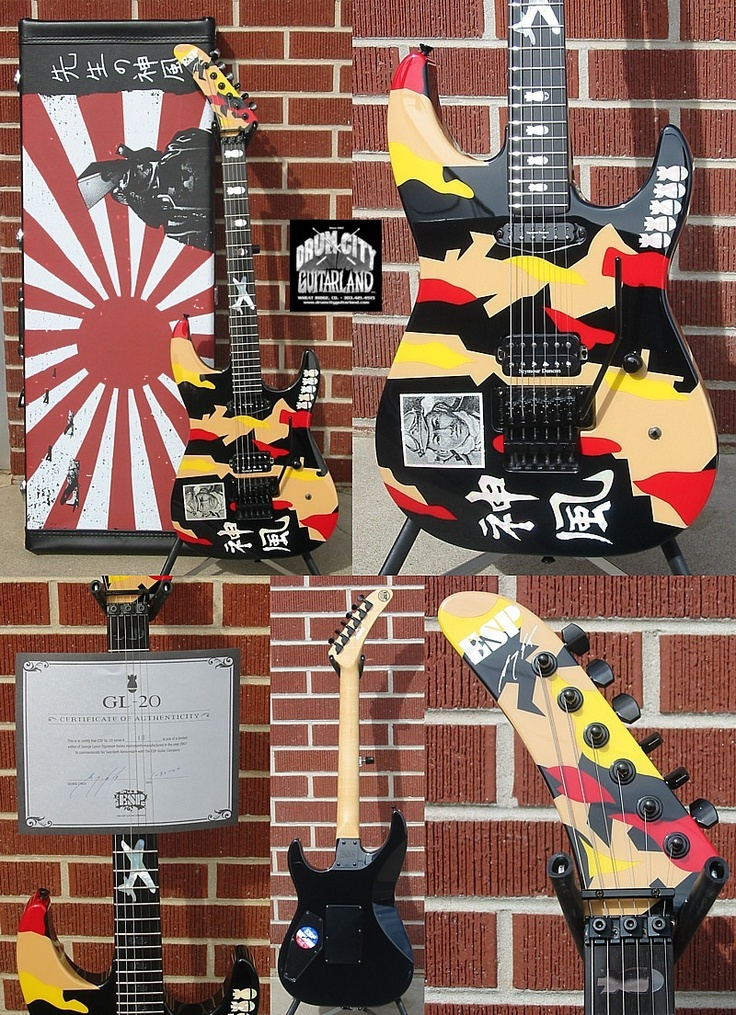 George Lynch's guitar made by ESP...the original is said to be a Charvel that was ascribed with a ESP logo to CYA on his contract with ESP
