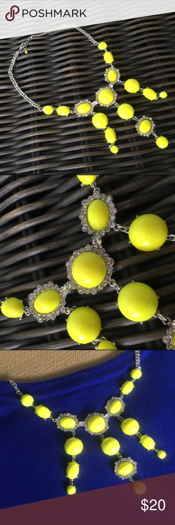 Express Neon Yellow Bubble Necklace Never worn. Great condition. MK sandals are also available for sale on a different listing. Express Jewelry Necklaces