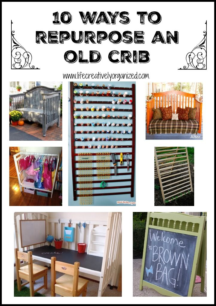 Have an old baby crib and don't know what to do with it? I love repurposing items so here are 10 great ways to repurpose a baby crib.