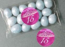 Party Decoration Stickers/Favor Bags Quinceanera Magenta Tiara