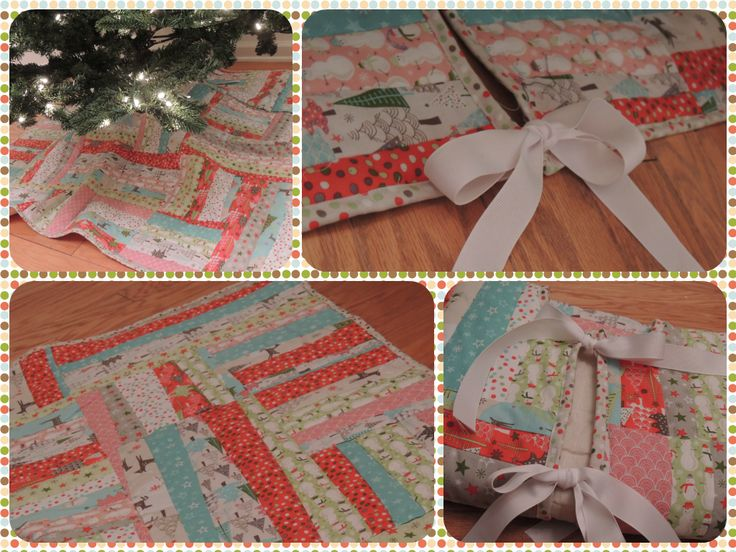 Quilted Christmas Tree Skirt Pinterest : Quilted Christmas Tree Skirt - square Quilt Love Pinterest